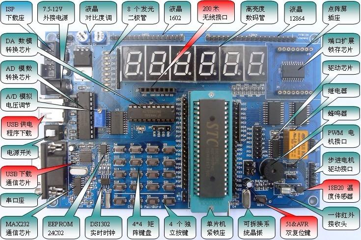 yl-51单片机学习开发板+51单片机实训视频教程|云龙