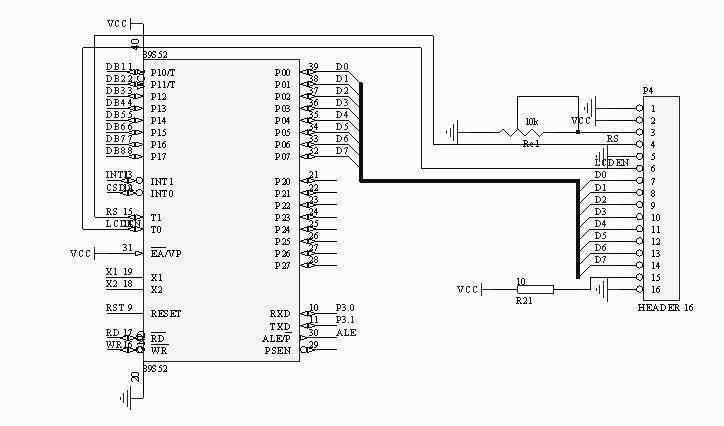 [硬件电路] //1602液晶显示字屏为:ep51c