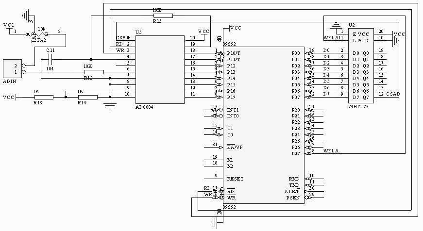 习模数转换adc0804的应用